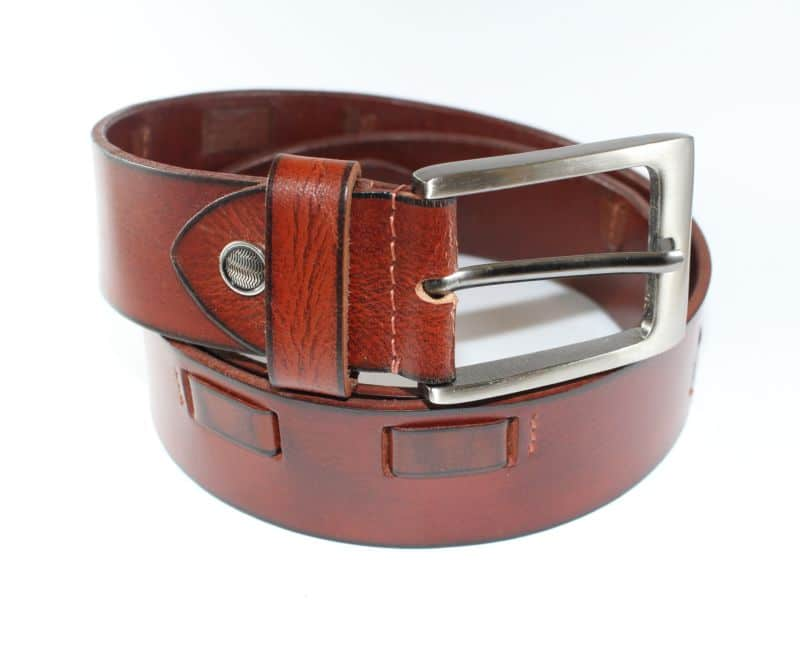 Square Stitched Brown